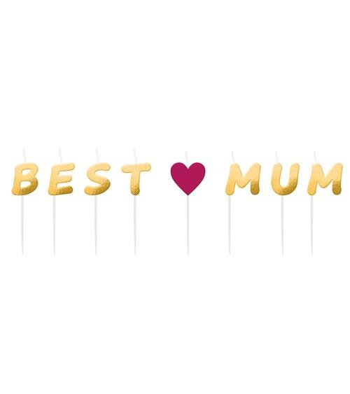 """Mini-Kerzen-Set """"Best Mum"""""""