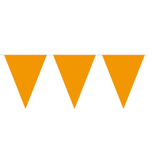 Wimpelgirlande aus Kunststoff - orange - 10m