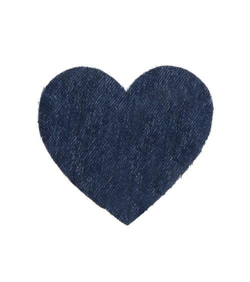 "Dekoherzen aus Stoff ""Jeans"" - 12 Stück"