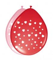 """Luftballon-Set """"Herzen"""" - rot/rosa - 8 Stück"""