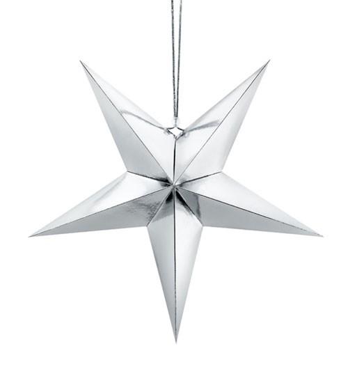 """Hängedekoration """"Stern"""" - silber - 45 cm"""