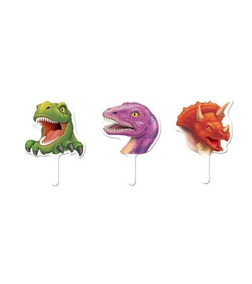 """Cupcake-Topper """"Dinosaurier"""" - 12 Stück"""