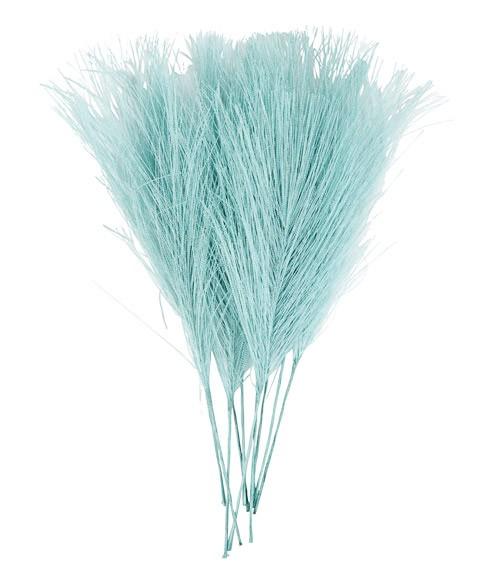 Künstliche Federn - 8 x 15 cm - türkisblau - 10 Stück