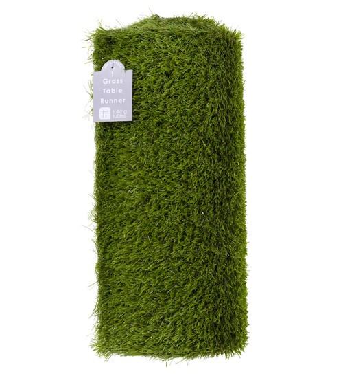 Gras-Tischläufer aus Kunststoff - 40 cm x 1,5 m