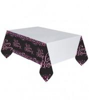 """Kunststoff-Tischdecke """"Sparkling Pink"""" - 137 x 259 cm"""