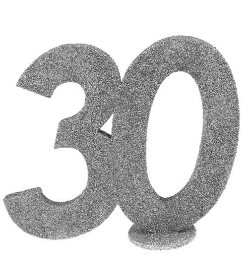 """Tischaufsteller """"30"""" - silber - 11 x 10 cm"""
