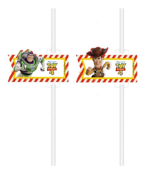 """Papierstrohhalme """"Toy Story 4"""" - 4 Stück"""