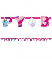 "Happy Birthday-Girlande ""My Little Pony - Magie"" - 2,0 m"