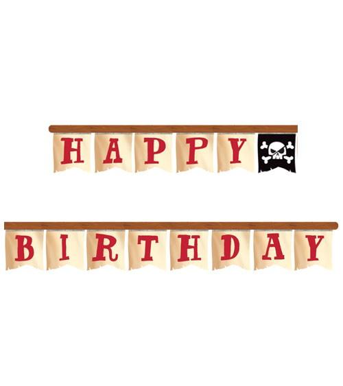 """Happy Birthday Girlande """"Piratenschatz"""" - 2,18 m"""