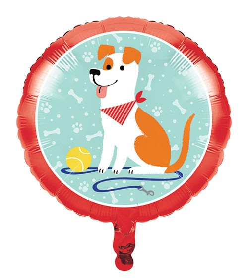"Runder Folienballon ""Hunde-Party"" - 45 cm"