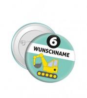 """Dein Button """"Bagger"""" - Wunschtext"""