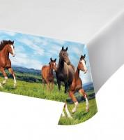 """Kunststoff-Tischdecke """"Pferde"""" - 137 x 259 cm"""
