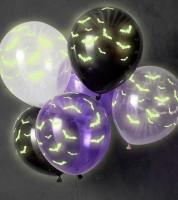 "Luftballon-Set ""Fledermäuse"" - Glow in the Dark - 6-teilig"