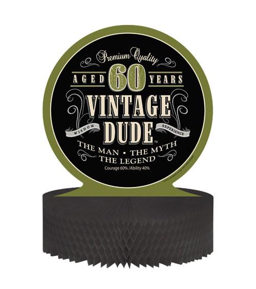"""Wabenaufsteller """"Vintage Dude - 60. Geburtstag"""""""