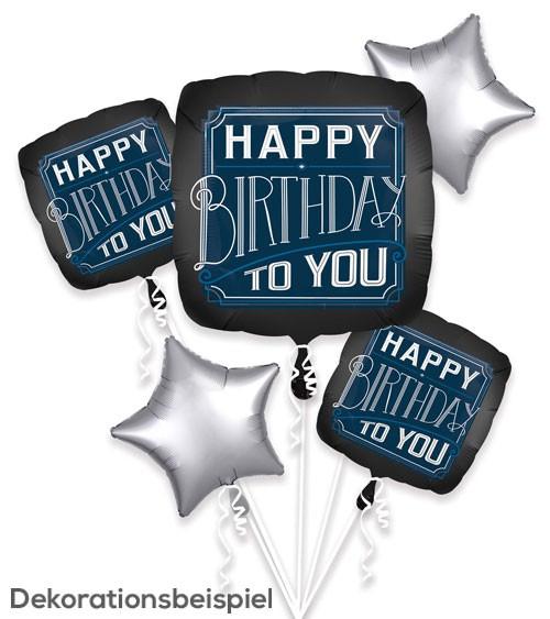 """Folienballon-Set """"Happy Birthday to you"""" - 5-teilig"""