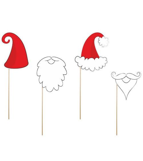 """Photobooth-Sticks """"Weihnachten"""" - 4-teilig"""