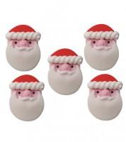 """Zuckerdekor """"Weihnachtsmänner"""" - 5 Stück"""