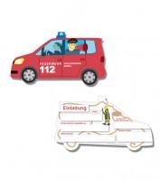 """Einladungskarten """"Feuerwehreinsatz"""" - 6 Stück"""