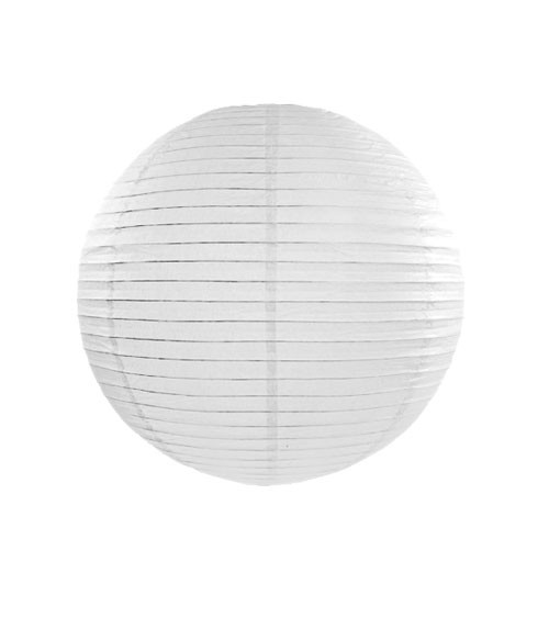 Papierlampion - weiß - 25 cm