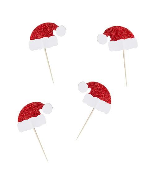 """Kuchenpicks """"Santa Hat"""" - 6 Stück"""