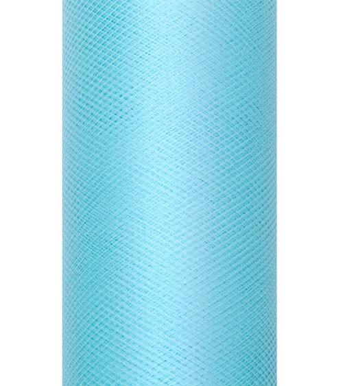 Tischband aus Tüll - türkisblau - 15 cm x 9 m