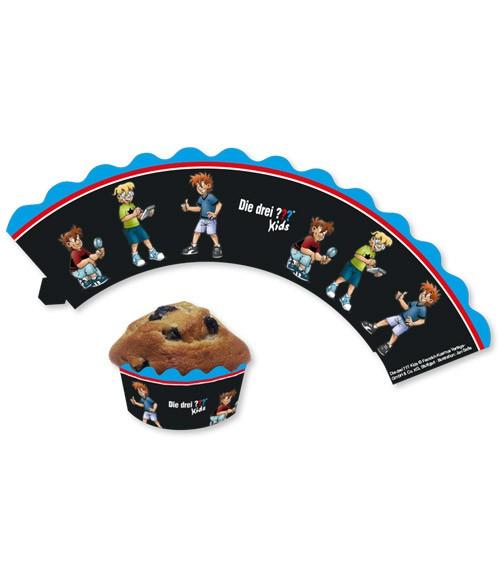 """Cupcake-Wrapper """"Die drei Fragezeichen Kids"""" - 8 Stück"""