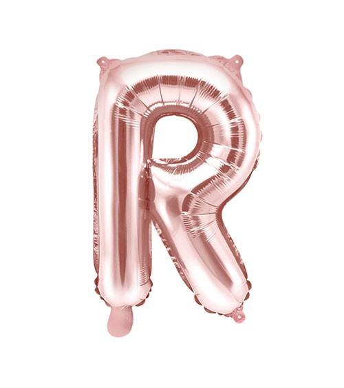 "Folienballon Buchstabe ""R"" - rosegold - 35 cm"