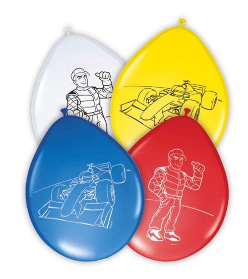 "Latex-Luftballons ""Rennstrecke"" - 8 Stück"