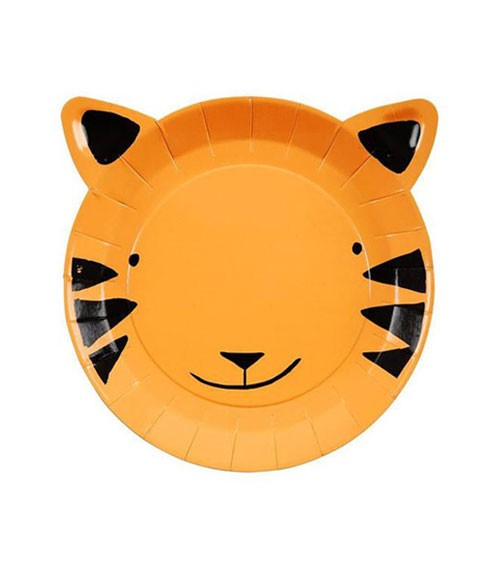 """Shape-Pappteller """"Tiger"""" - 12 Stück"""