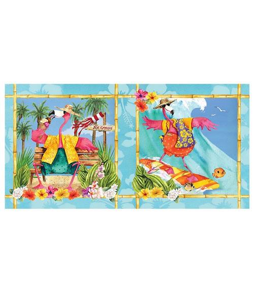"""Kunststoff-Tischdecke """"Flamingo Fun"""" - 137 x 259 cm"""