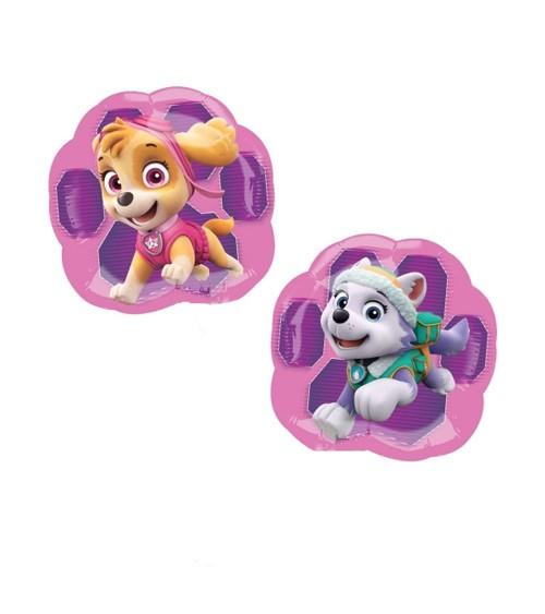 "Minishape-Folienballon ""Paw Patrol Pink"" - Skye und Everest"