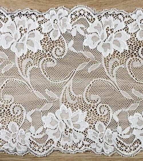 """Spitzen-Tischband """"Floral"""" - 18 cm x 9 m"""