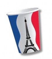 """Pappbecher """"Frankreich"""" - 10 Stück"""