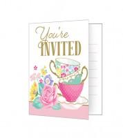 """Einladungskarten """"Floral Tea Party"""" - 8 Stück"""