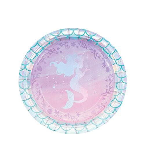 """Kleine Pappteller """"Mermaid Shine"""" - 8 Stück"""