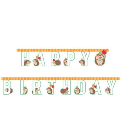"Happy Birthday-Girlande ""Igelparty"" - 3,05 m"