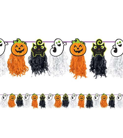 "Tasselgirlande ""Halloween"" - 2,4 m"