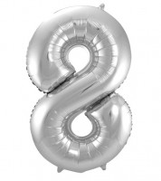 "SuperShape Folienballon ""8"" - silber"