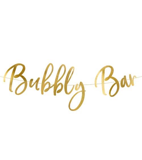 "Girlande ""Bubbly Bar"" - gold - 83 x 21 cm"