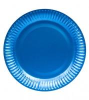 Pappteller - metallic azurblau - 8 Stück