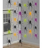 "Girlandenvorhang ""Spinnen"" - 2,13 m - 6 Stück"