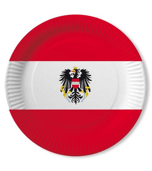 """Pappteller """"Österreich"""" - 10 Stück"""