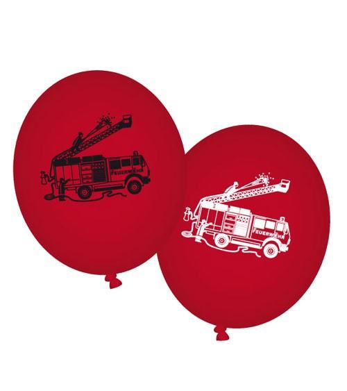 "Ballons ""Feuerwehreinsatz"" - 8 Stück"