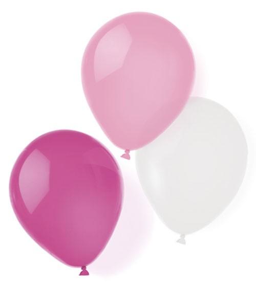 """Luftballon-Set """"Farbmix Pink"""" - 25,4 cm - 8-teilig"""