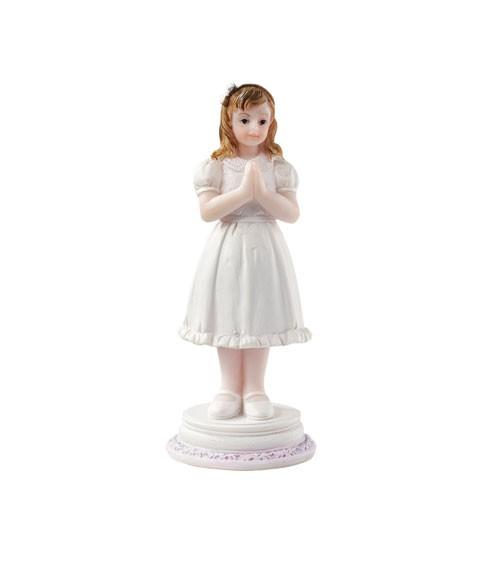 """Deko-Figur """"Kommunion/Konfirmation"""" - Mädchen auf Sockel - 9 cm"""