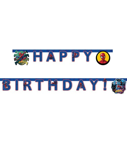 "Happy Birthday-Girlande ""Spiderman - Team Up"""