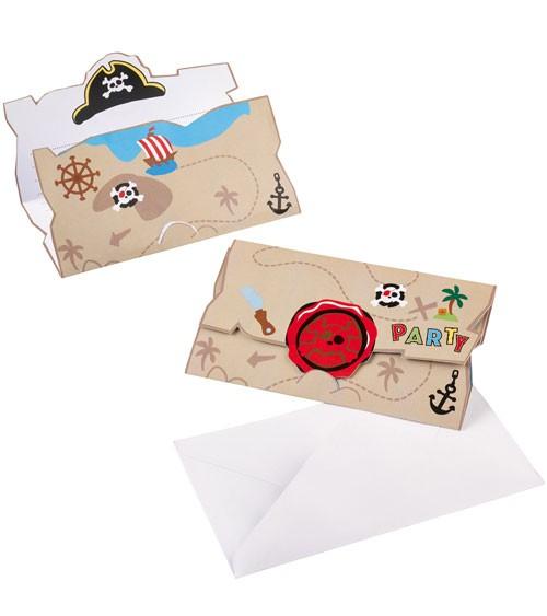 """Einladungskarten """"Kleiner Pirat"""" - 8 Stück"""