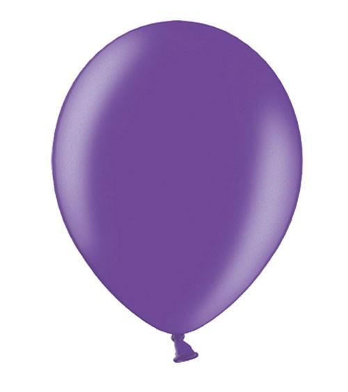 Metallic-Luftballons - lila - 10 Stück