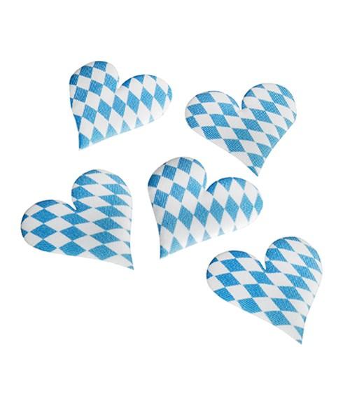 """Deko-Herzen """"Bayrisch Blau"""" - 7 Stück"""