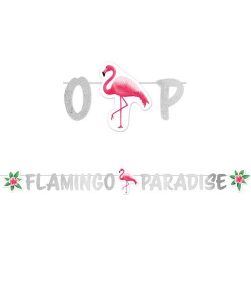 """Schriftzuggirlande """"Flamingo Paradise"""" - 1,35 m"""